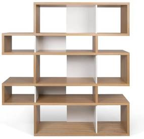 TemaHome London Design Boekenkast Eiken - Wit - 156x34x160cm.