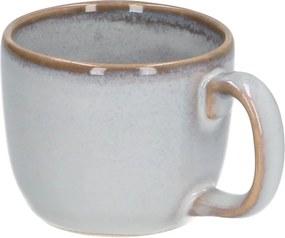 Espressokop reactieve glazuur, steengoed, grijs