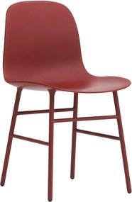 Normann Copenhagen Normann Copenhagen Form Chair Stoel Met Stalen Onderstel Rood