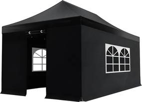 Easy up 3x6m zwart budget partytent