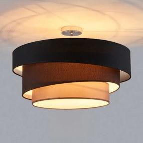 Aansprekende plafondlamp Melia, zwart en bruin - lampen-24
