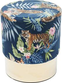 Kare Design Cherry Jungle Tiger Ronde Poef