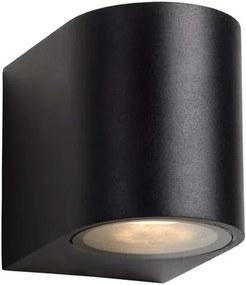 Lucide LED wandspot buiten ZORA IP44 afgerond - zwart - 9x6,5x7,9 cm - Leen Bakker