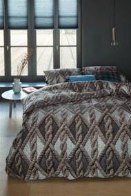 Beddinghouse | Dekbedovertrekset Aran Knit tweepersoons: breedte 200 cm x lengte 200/220 cm + grijs dekbedovertrekken flanel | NADUVI outlet