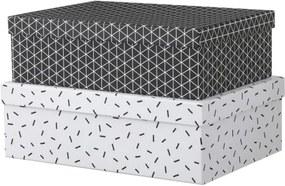2-pak Kartonnen Dozen (zwart/wit)