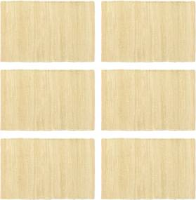 Placemats 6 st chindi 30x45 cm katoen beige