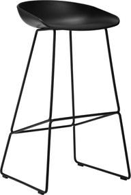 Hay About A Stool AAS38 Barkruk Zwart Onderstel Zwart 65 Cm