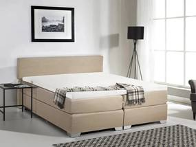 PRESIDENT Boxspringbed Beige Polyester 180x200