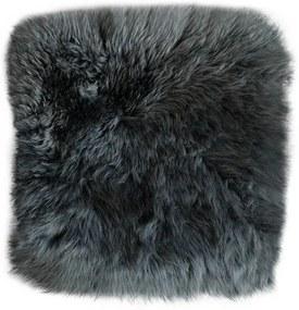 Stoelkussen - schapenvacht vierkant antraciet - stoelzitting - stoelpad
