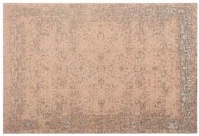 Yolanda groot Perzisch jacquard vloerkleed, 160 x 230 cm, zachtroze