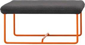 Fermob Ultrasofa Ottoman voetenbank Donkergrijs oranje onderstel