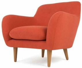 Dylan fauteuil, retro oranje