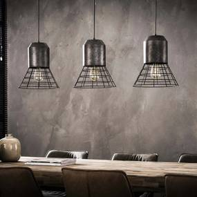 Industriële Hanglamp 'Penelope' 3-lamps