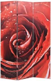 Kamerscherm inklapbaar roos 120x170 cm rood