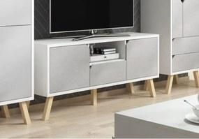 TV Meubel Scandinavisch - Wit & Mat Grijs - 140 cm