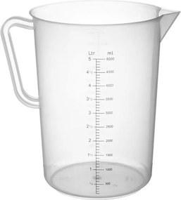 Maatbeker 5 liter kunststof