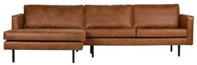 BePureHome Rodeo Hoekbank Chaise Longue Recycle Leer Hoek Links Cognac