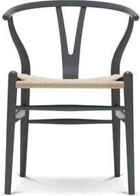 Carl Hansen & Son CH24 Wishbone stoel Colours Natural Anthracite Grey