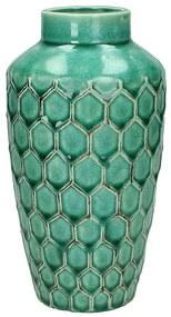Vaas stoneware - petrol - 20 cm