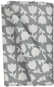 Tafelzeil 140x240 Polyester - Tulpen Grijs/wit (donkergrijs)