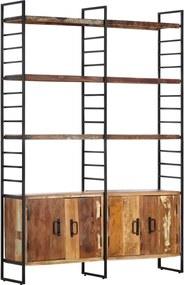 Boekenkast met 4 schappen 124x30x180 cm massief gerecycled hout