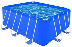 Opbouwzwembad met stalen frame 400 x 207 x 122 cm rechthoekig