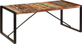 Eettafel 200x100x75 cm massief gerecycled hout