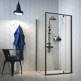 Get Wet Contour Douchecabine met draaideur 100x100x200 cm Mat Zwart