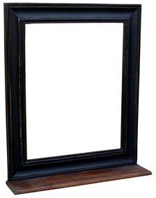 Zwarte Spiegel Van Hout - 68x79cm