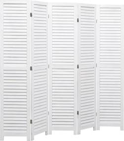 Kamerscherm met 5 panelen 175x165 cm hout wit