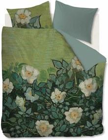 Beddinghouse Wild Roses dekbedovertrekset van katoensatijn