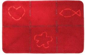 Sealskin tack badmat 60x90cm acryl Rood 293273659
