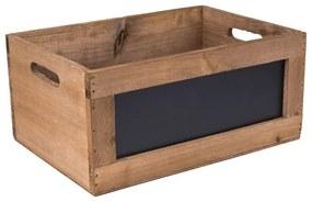 Kistje met schoolbord - 39x27x17 cm