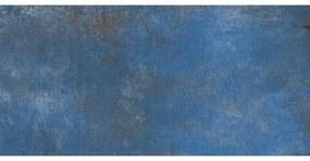 EnergieKer Vloer- en wandtegel Flatiron Blue 30x60 cm Gerectificeerd Industriële look Mat Blauw SW07310637-4