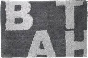 Badmat Antislip Sealskin Littera Polyester Antraciet 60x90cm