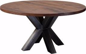 Noten Eettafel houten eettafel XX-poot - Rond