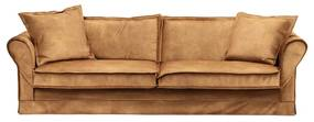 Rivièra Maison - Carlton Sofa 3,5 Seater, velvet, cognac - Kleur: bruin