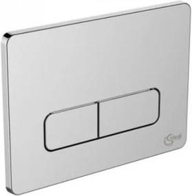 Bedieningsplaat 23x17 cm. softedge tweeknops chroom
