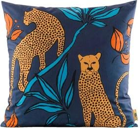 LEEN x Mariska woonkussen Leopard - blauw/grijs - 70x70 cm - Leen Bakker