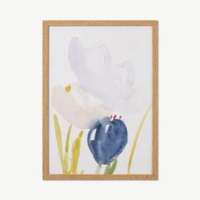 Lisa Hardy, 'Floral IV' limited edition, ingelijste print, A2