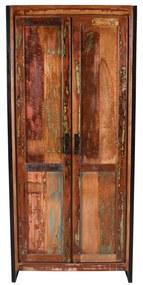Sloophouten Wandkast Met Planken - 80x45x180cm.