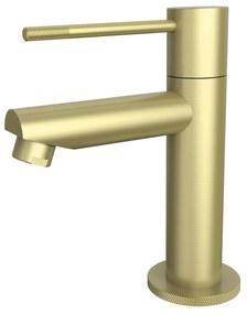 Toiletkraan Best Design Nancy-Ribera Uitloop Recht 14 cm 1-hendel Mat Goud