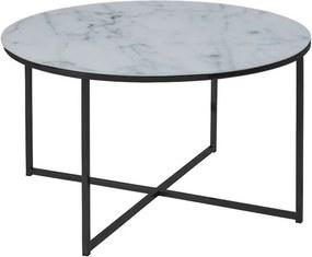 Salontafel Ostana - wit/zwart - 45x80 cm - Leen Bakker