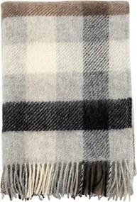 Plaid Gotland wol: ruiten, Multi Grey