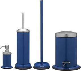 WC Borstel Set Sealskin Acero RVS Blauw 12x40.5cm