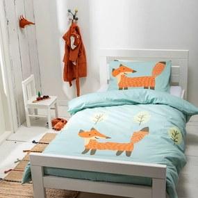 Kinderdekbedovertrek Kinderdekbedovertrek Happy Fox 1-persoons (140x200) - - Dieren - Groen - Ga naar Dekbed-Discounter.nl & Profiteer Nu