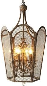 Hanglamp Rustic Antique Crystal