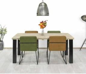 Steigerhouten tafel Elco met industriële poten