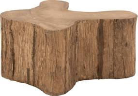 Goossens Bijzettafel Antis, hout teak blank, urban industrieel, 90 x 40 x 90 cm