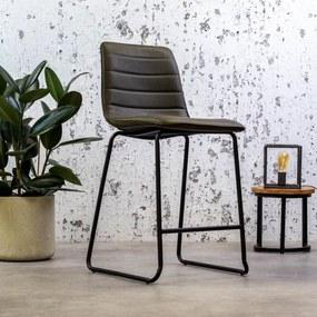Dimehouse | Barkruk Mark breedte 49 cm x diepte 54 cm x hoogte 100 cm groen barkrukken pu, kunstleer meubels poefs & krukken | NADUVI outlet